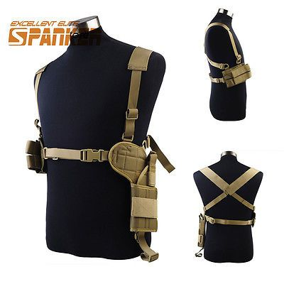 Universal chest rig shoulder armpit holster for pistol gun w universal chest rig shoulder armpit holster for pistol gun w magazine pouch cb sciox Choice Image