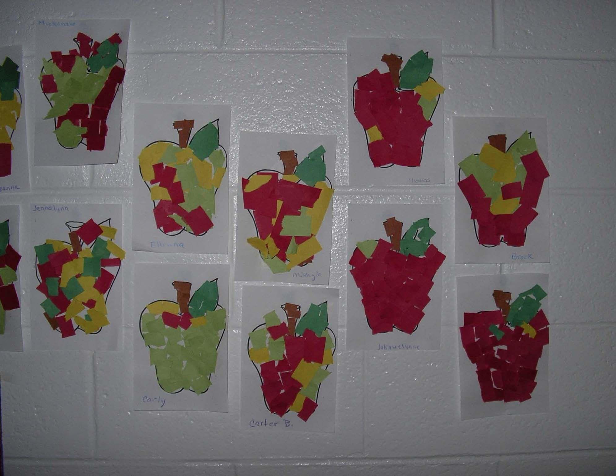 apple activities, apple centers, apple art, apple arts and