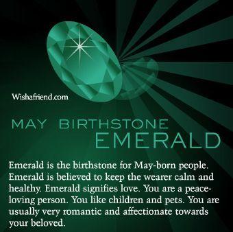 May birthstone - Emerald | for Mark | Birth flowers