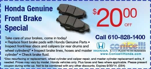 Coupon from conicelli honda service department national coupon from conicelli honda service department fandeluxe Image collections