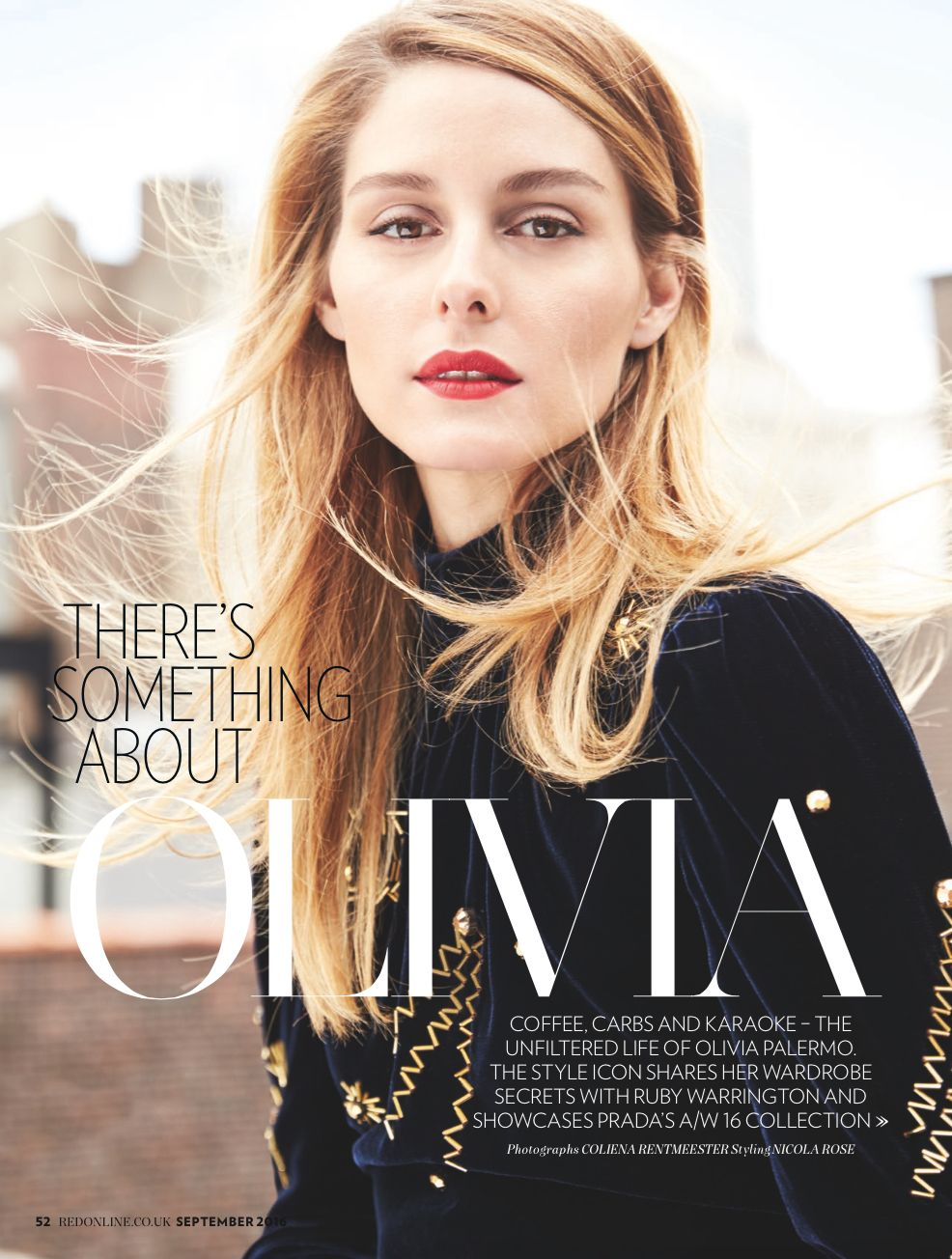 Olivia Palermo for Red magazine