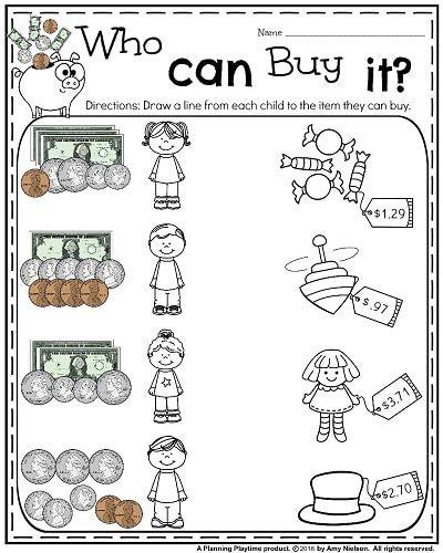 Money Worksheets for 2nd Grade | Money worksheets, Worksheets and Maths