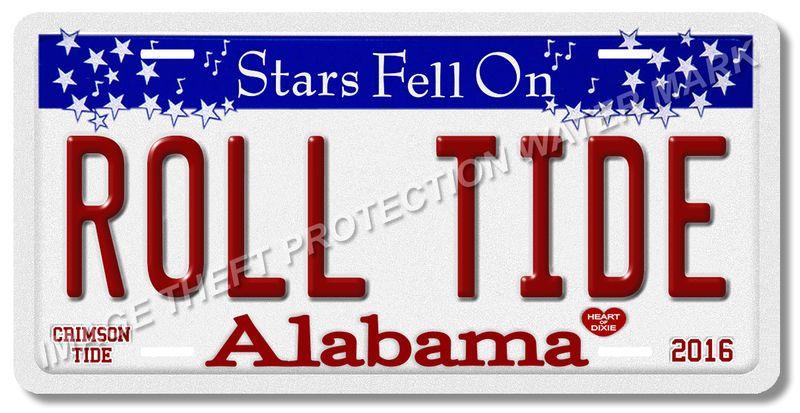 Alabama Crimson Tide  Roll Tide Vanity License Plate