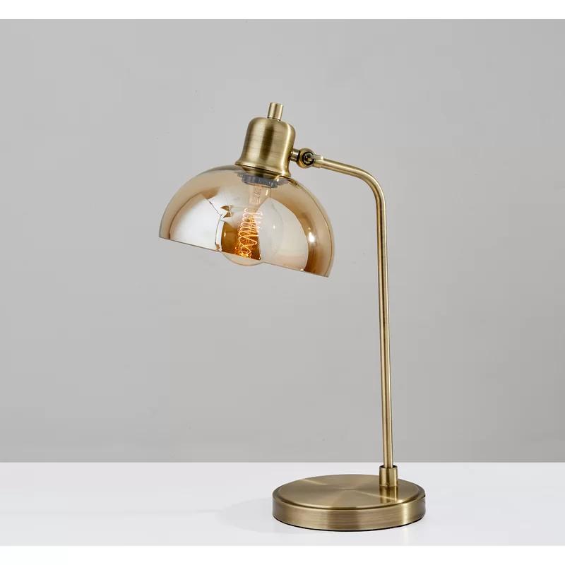 Mercer41 Abramson 19 Desk Lamp Reviews Wayfair Lamp Brass Desk Lamp Table Lamp