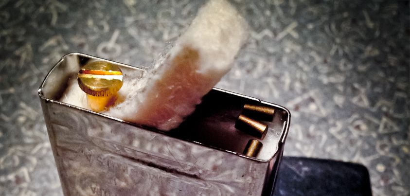 Two Zippo Lighter Tips Store Extra Flints Under The Felt And Always Lift The Felt Before Filling