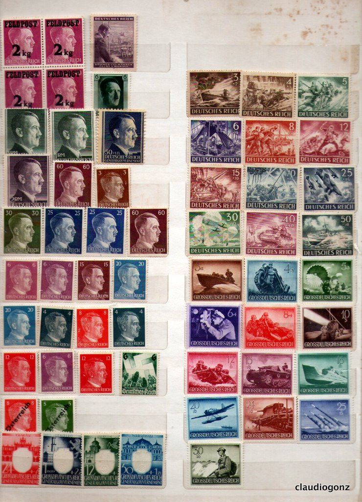 Selos Alemanha Reich sem carimbo 2