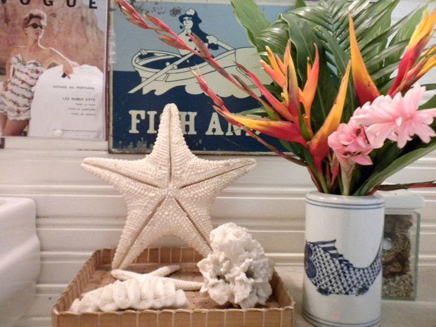 O mar na decoração: casa de arquiteto tem conchas, muito azul e branco - Notícias - Casa GNT