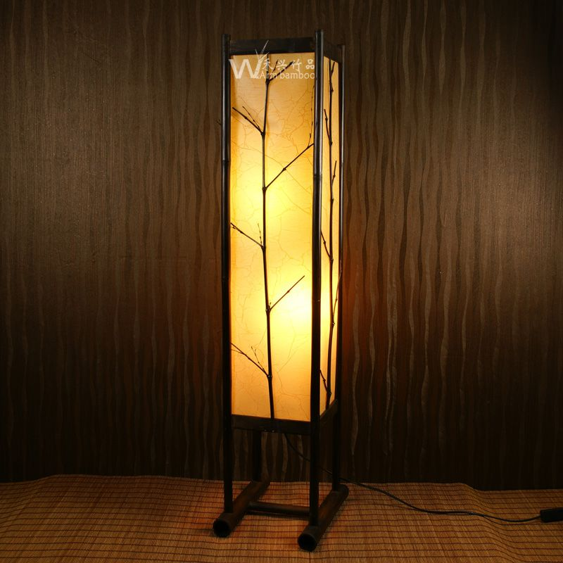 New classical japanese style faux floor lamp soft bamboo lamps us new classical japanese style faux floor lamp soft bamboo lamps us 32037 aloadofball Images