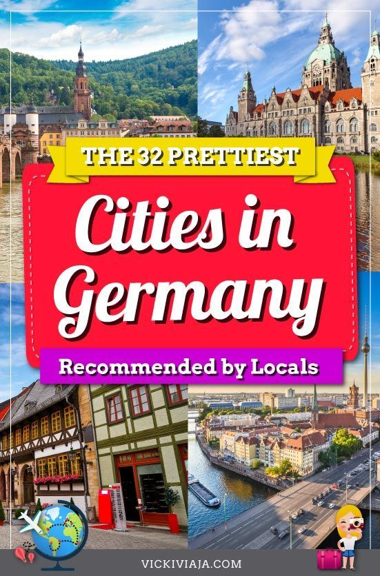 Are you looking for inspiration for your trip to #Germany? In this article, you can find the 32 most beautiful cities in Germany recommended by locals and travel bloggers #travel #travelinspiration #Vickiviaja