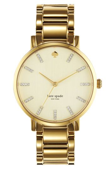 7abc53f16 I'm so obsessed. Want want want want. Kate spade new york 'gramercy' round  bracelet watch | Nordstrom
