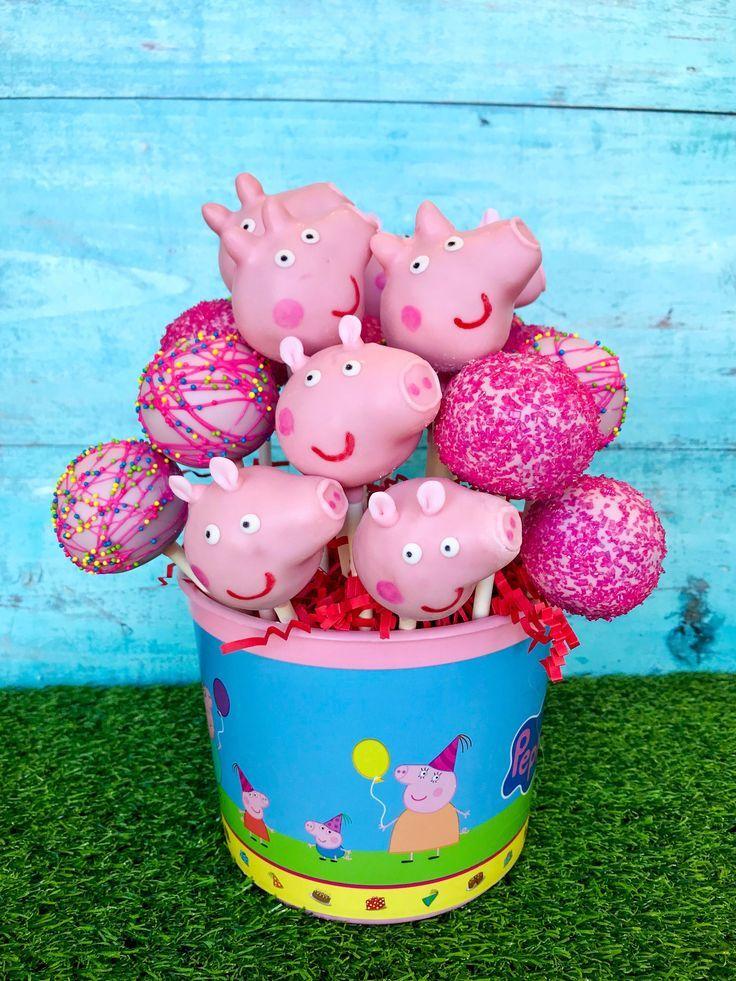 Photo of Peppa Pig Cake Pops #peppapig