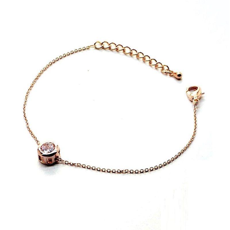 Gold-color zircon bracelets for women simple thin bracelet fashion ...