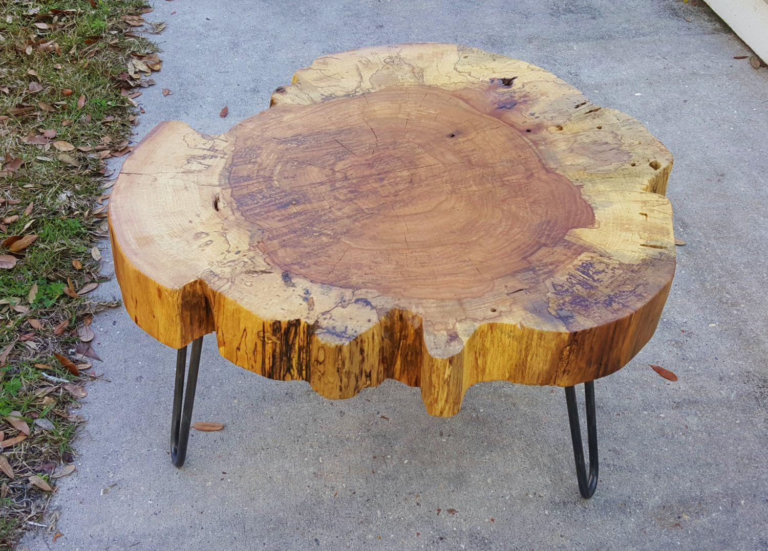Clearance Pecan Round Coffee Table Round Wood Coffee Table Live Edge Coffee Table Round Coffee Table
