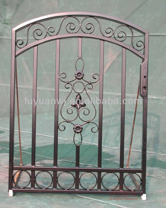 Hot Dipped Galvanized And Paint Colors Drawing Wrought Iron Gate ...
