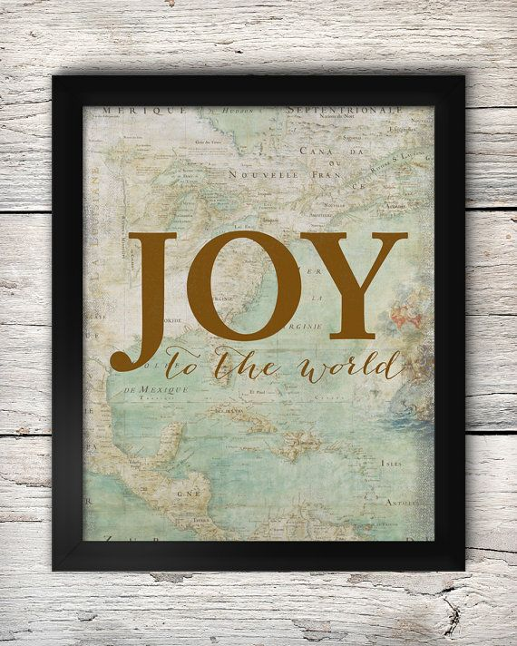Joy to the world christmas vintage map downloadable printable on joy to the world christmas vintage map downloadable printable on etsy by prairiepix gumiabroncs Gallery
