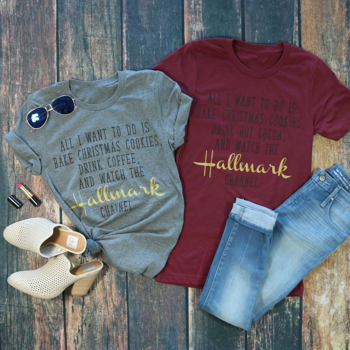 Hallmark Christmas Movie Tees Holiday Shirt Ideas Christmas Movie Shirts Holiday Shirts