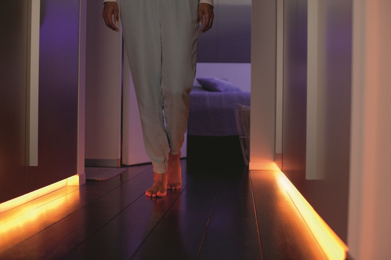 Phiilips-Hue-Lightstrip-Plus-hallway | Hallway designs, Lights and ...