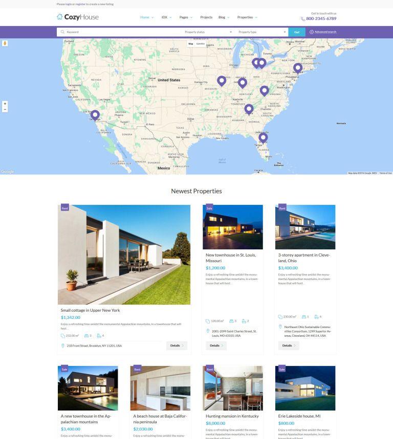 Cozyhouse Layout: CozyHouse - Real Estate Premium WordPress Theme