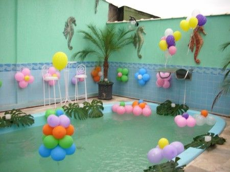Pool Party Decorations Ideas themed birthday parties abc party ideas for girls Pool Party Ideas Other Images In This Gallery