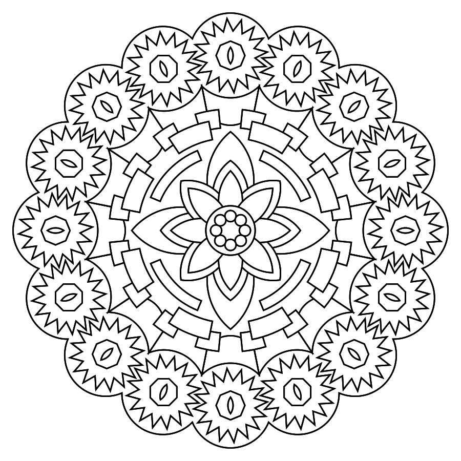 ԑ̮̑♢̮̑ɜ~Mandala para Colorear~ԑ̮̑♢̮̑ɜ | Mándalas | Pinterest ...