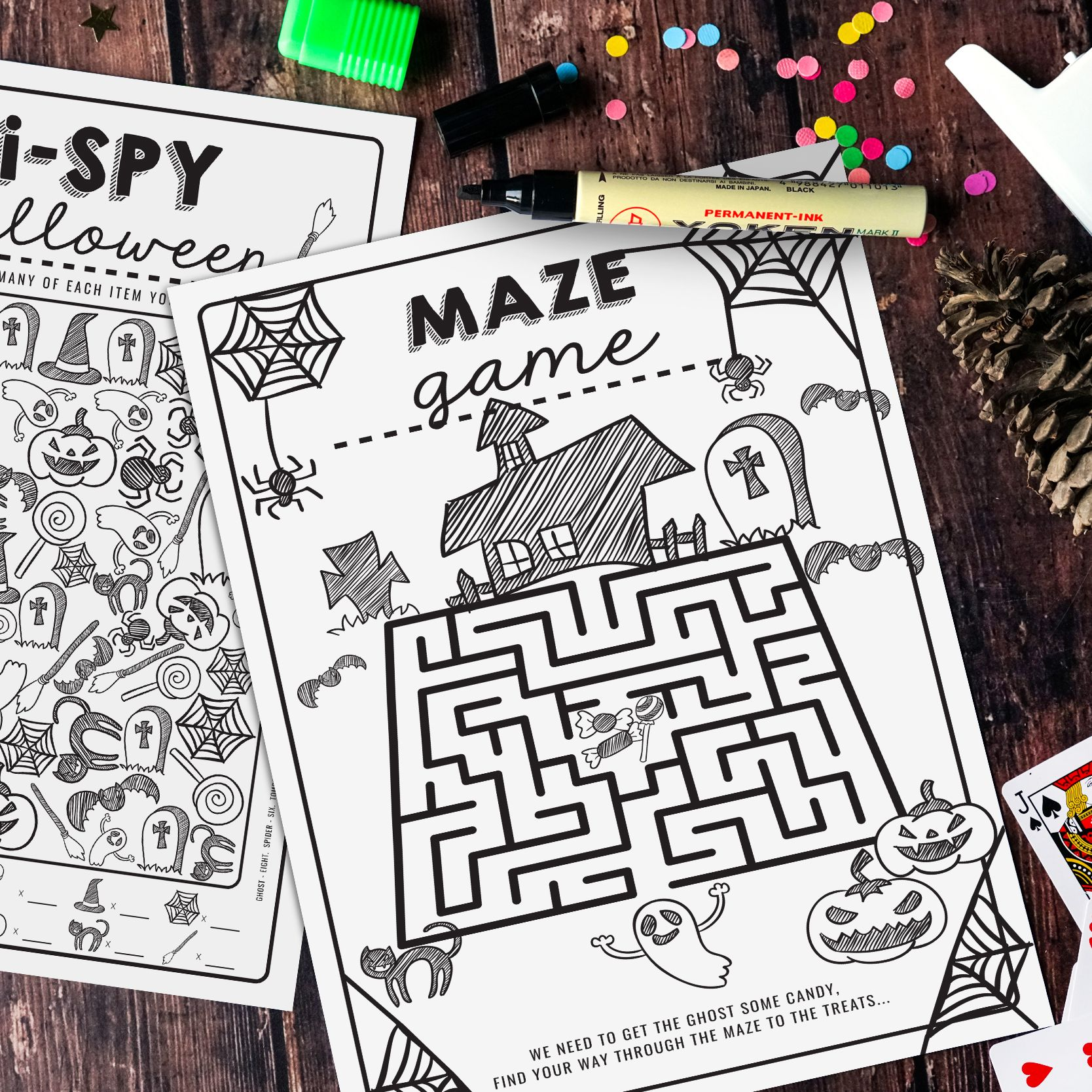Free Halloween Activity Sheets I Spy Maze Download Ghosts