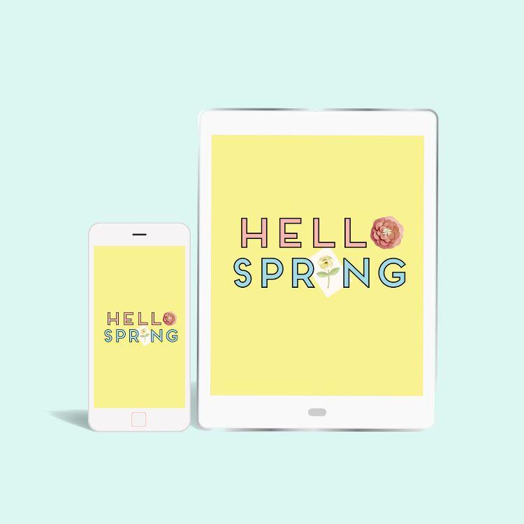FREE 'HELLO SPRING' DESKTOP WALLPAPERS. #springdesktopwallpaper