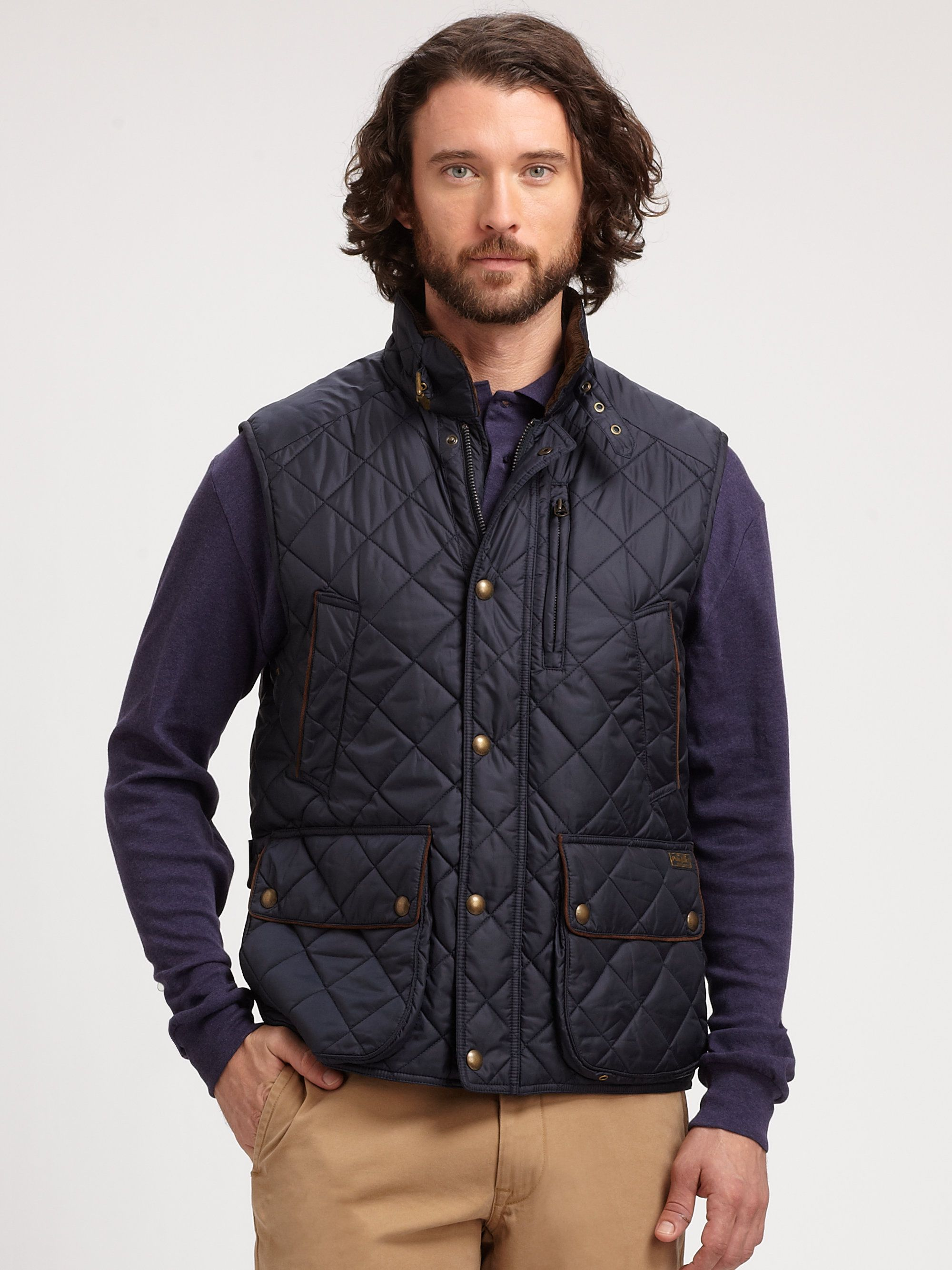 quilted flash mens board jacket lyst the product navy normal baseball men for ralph blue lauren in barbour quilt coastal
