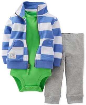 Carter's Baby Boys' 3-Piece Jacket, Bodysuit