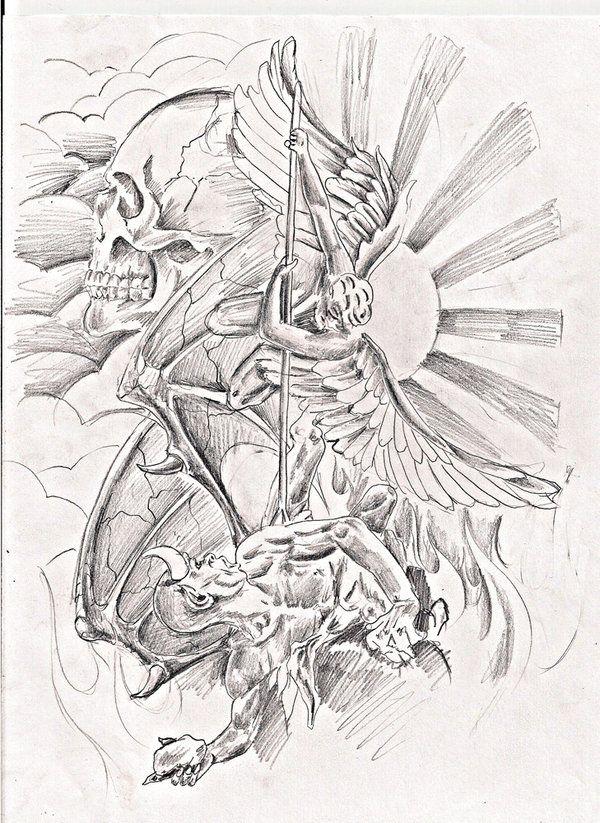 Good Vs Evil Drawing Ideas : drawing, ideas, Tattoos,, Tattoo,, Tattoos, Gallery