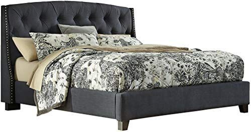 New Ashley Furniture Signature Design - Kasidon Contemporary Upholstered Tufted Bedset - Queen Size Bed - Dark Gray online shopping - Bestsellersoutfits#ashley #bed #bedset #bestsellersoutfits #contemporary #dark #design #furniture #gray #kasidon #online #queen #shopping #signature #size #tufted #upholstered