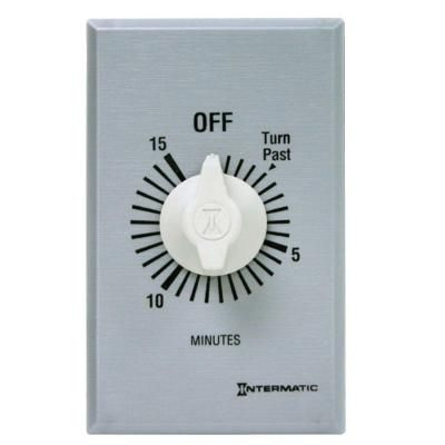 Intermatic 20 Amp 15 Minute Spring Wound In Wall Timer Silver