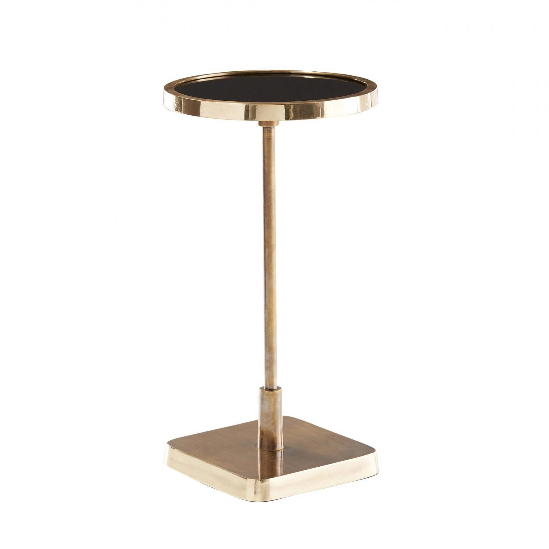 Nice Polished Brass On The Base And Lip Contrast Beautifully With The Vintage  Brass Pedestal And Black Mirror Top. Group With The Rectangle And Square ... Awesome Ideas