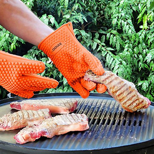 BBQ Gloves Silicone Heat Resistant BBQ Grill Gloves Great for Barbeque, Oven, Cooking, Frying, Baking, Smoking, Potholder, FDA Approved and BPA Free   BBQ Gloves Silicone Heat Resistant BBQ Grill Gloves Great for Barbeque, Oven, Cooking, Frying, Baking, Smoking, Potholder, FDA Approved and BPA Free   Innoo Tech Heat Resistant Silicone Gloves, might be the last one you ever have.      Great for: barbecue, oven, kitchen, microwave, baking, smoking, frying, fireplace, welding, handling ..