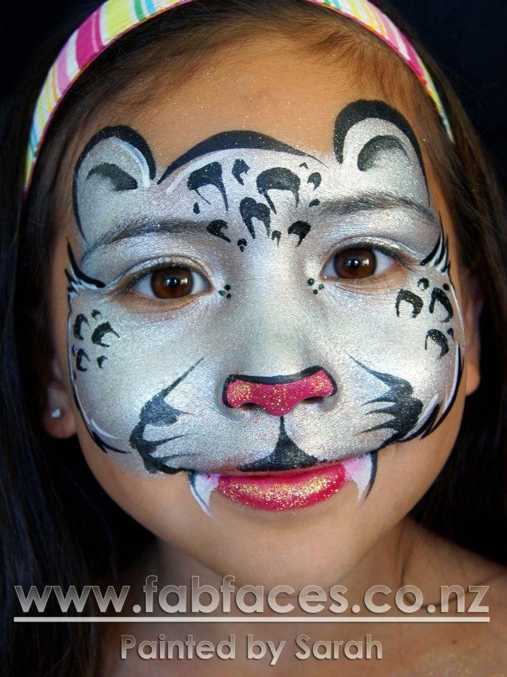 Fab Faces by Sarah - Snow Leopard 3/3