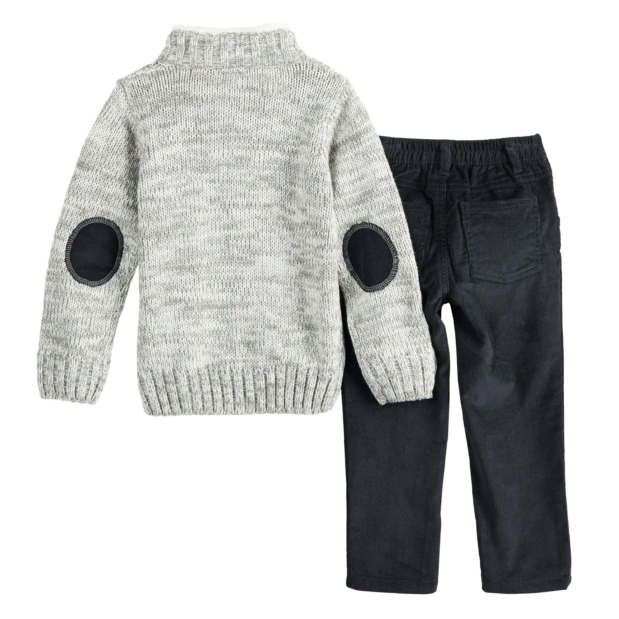 Photo of Baby Boy Little Lad Cable Knit Sweater & Corduroy Pants Set