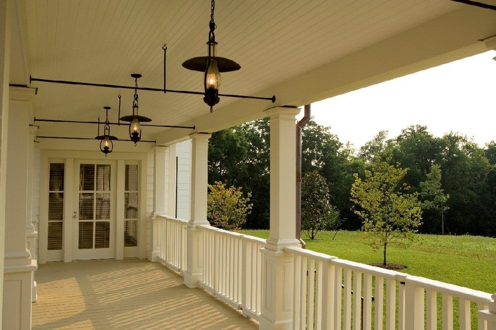 Farmhouse outdoor lighting porch farmhouse with painted