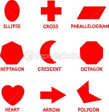 Worksheets Different Shapes And Names different shapes and their names oops concepts net part 2 basic geometric with captions