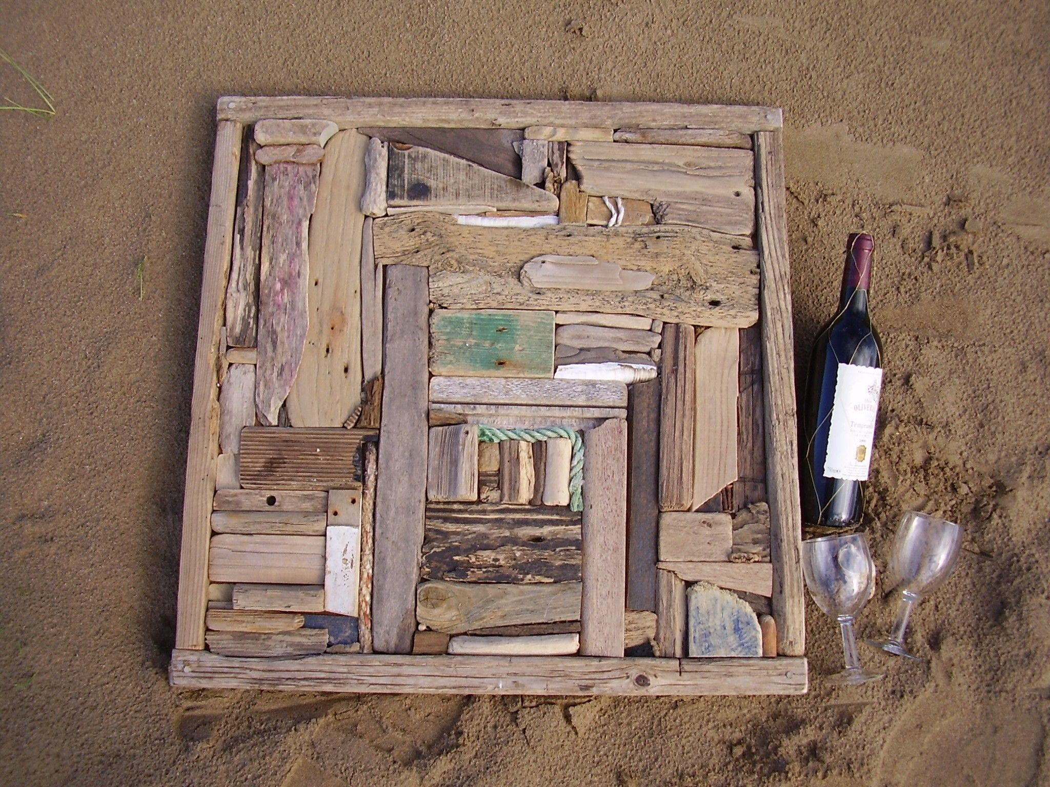 Driftwood decor driftwood art wall panel recycled beach for Driftwood decor and design