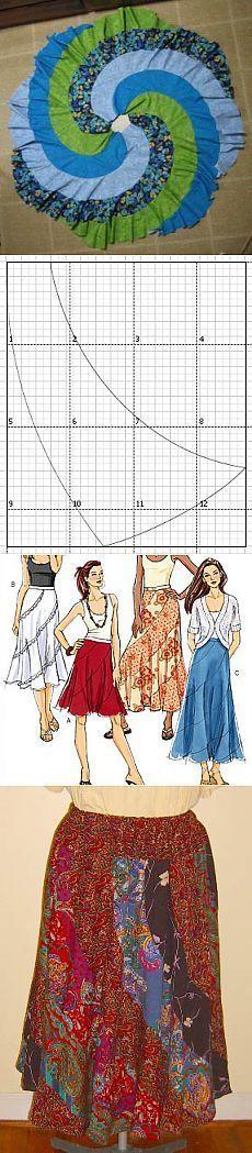 Вязание спицами   Flared skirt, Template and Patterns
