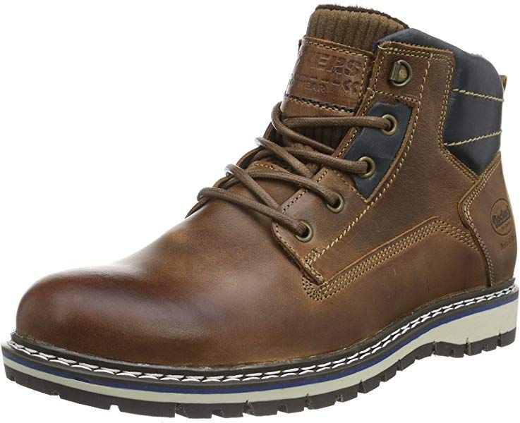 Dockers by Gerli Messieurs Hiver Bottes Boots Doublure Cuir 43ad103650630 Marron