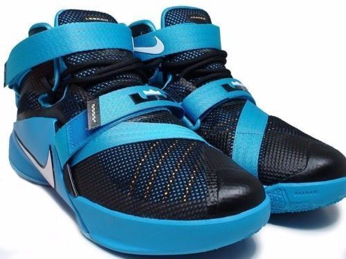 fb5b7d25f11 Nike 776471-014 LeBron Soldier IX Blue Basketball Shoes Kid Youth Size 6y   Nike  BasketballShoes
