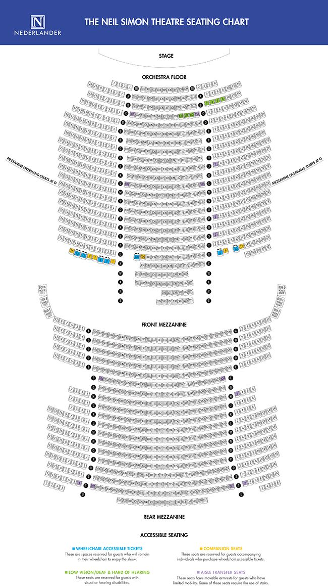The Official Website Ticketmaster Is The Authorized Ticket Service For This Theatre Neil Simon Theatre Theatre Theater Seating