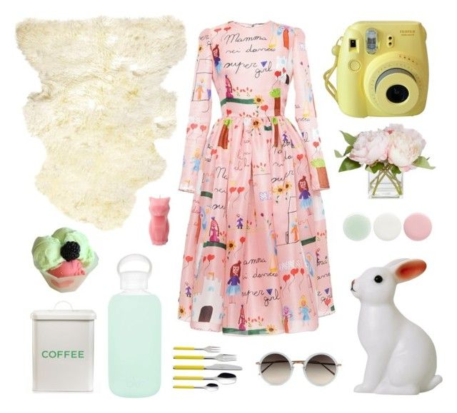 Garden Party by jujumills on Polyvore featuring Dolce&Gabbana, Linda Farrow, bkr, Nails Inc., Natural by Lifestyle Group, DK, Martha Stewart, Villeroy & Boch and Disney