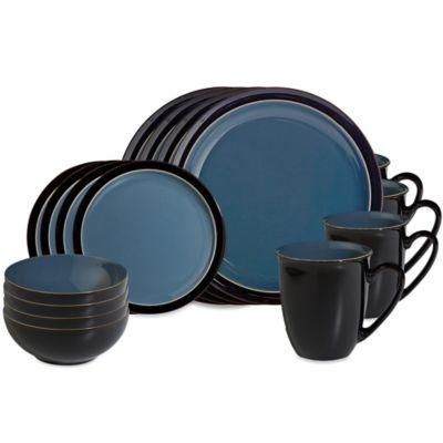 Buy Denby Duets 16-Piece Dinnerware Set in Black/Blue from Bed Bath \u0026  sc 1 st  Pinterest & Buy Denby Duets 16-Piece Dinnerware Set in Black/Blue from Bed Bath ...