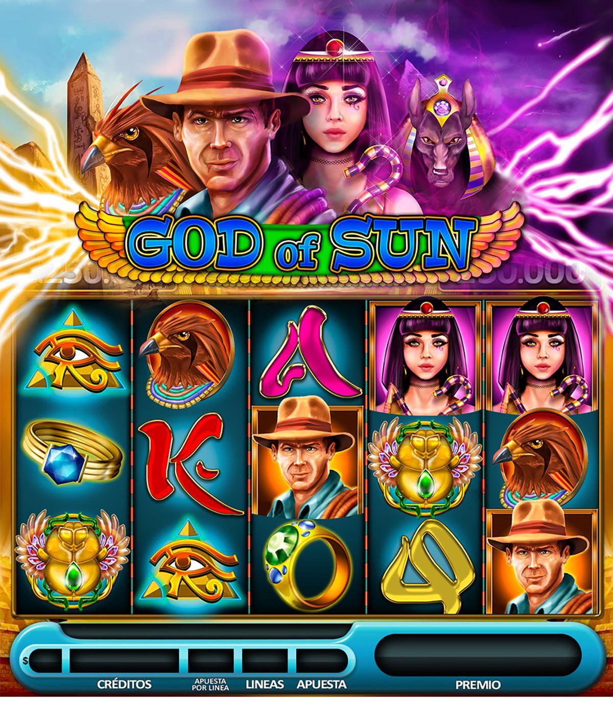 God of sun zoeslots slot game egypt