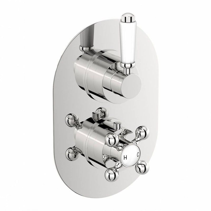 The Bath Co Dulwich Twin Thermostatic Shower Valve With Diverter