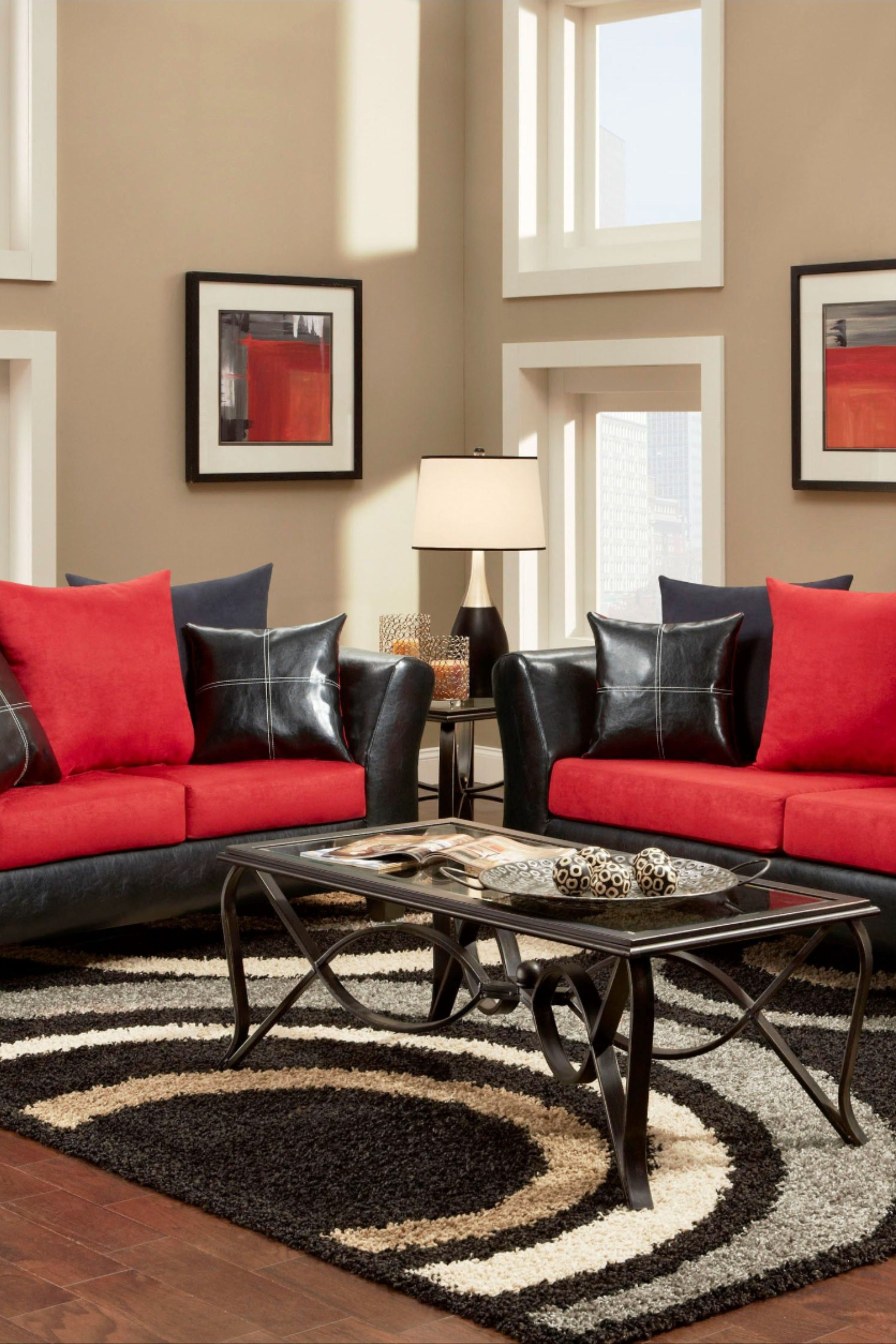 17 Apartment Living Room Decorating Ideas Avilow Com In 2021 Red Living Room Decor Living Room Red Black And Red Living Room