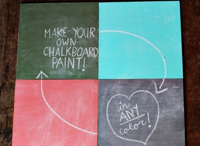 Make Your Own Chalkboard Paint Any Color 1c Acrylic Paint