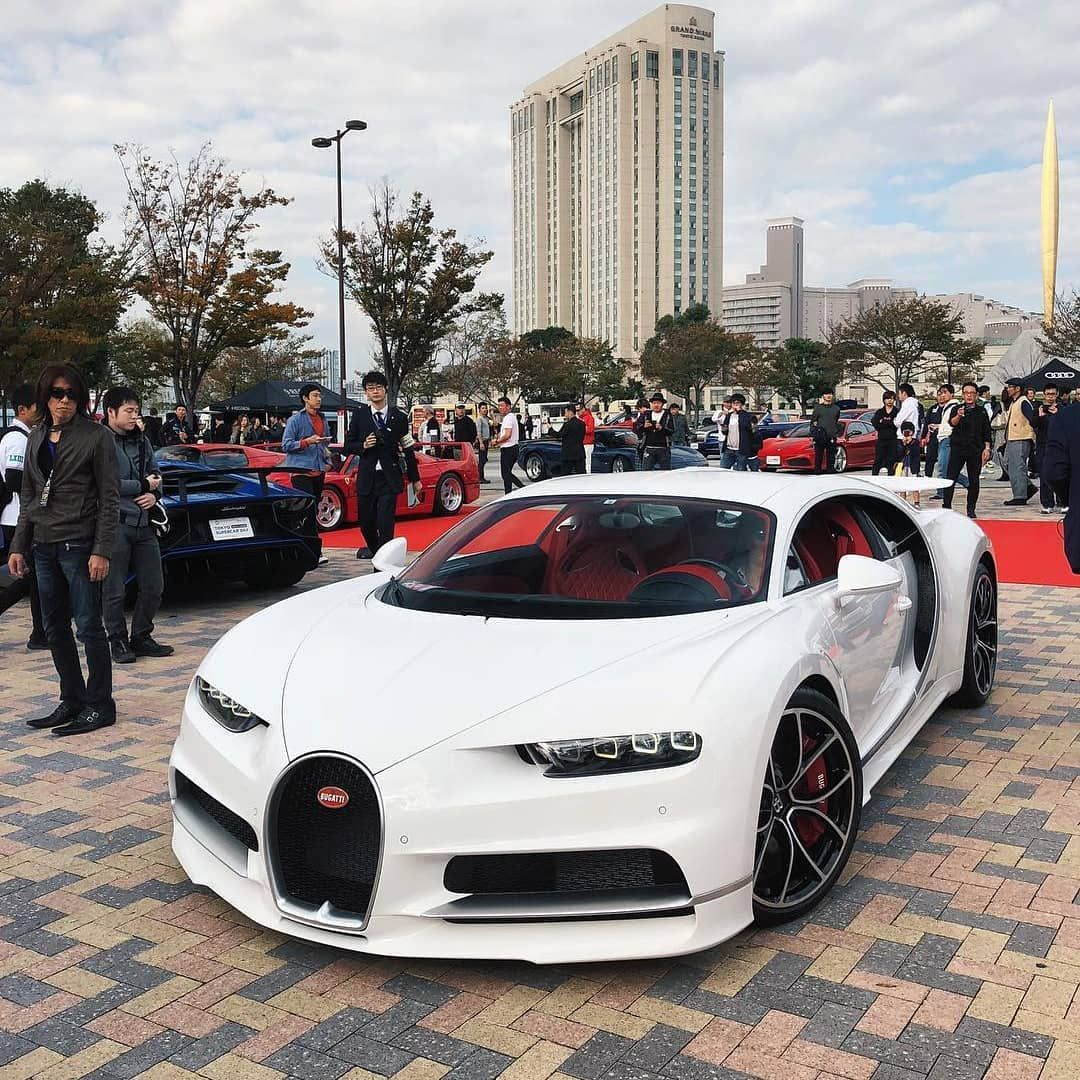 Gorgeous All White With Red Interior Chiron From Japan Bugatti