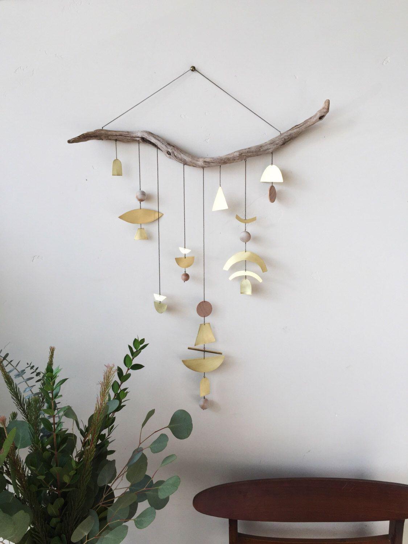 "Brass geometric wall hanging + geometric mobile // ""Ziya"" // Made to order by ELECTRICSUNCREATIVES on Etsy https://www.etsy.com/listing/249187577/brass-geometric-wall-hanging-geometric"
